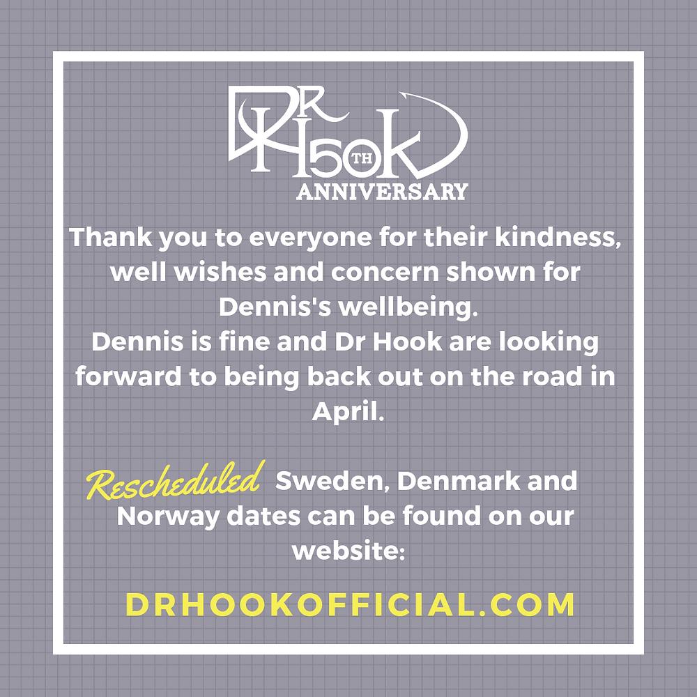 Dr Hook's Dennis `Locorriere Update 120219