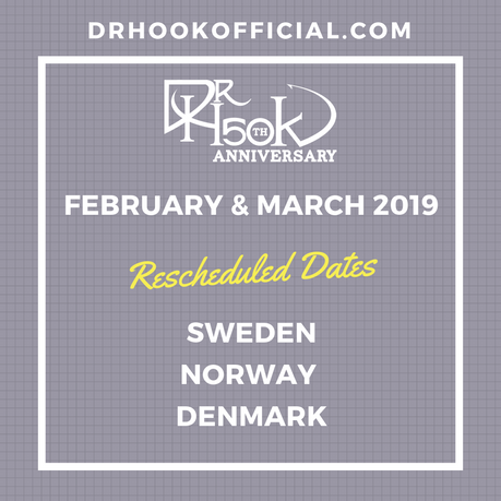 Dr Hook | Rescheduled February & March 2019 Shows