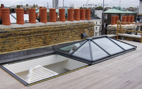 Slide Open Rooflight Roof Access-RDG