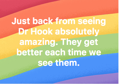 5 * Reviews & Comments for Dr Hook | St David's Hall | Cardiff | Sold Out! 🔥