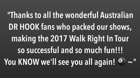 Australia 2017 | A Message From Dennis Locorriere