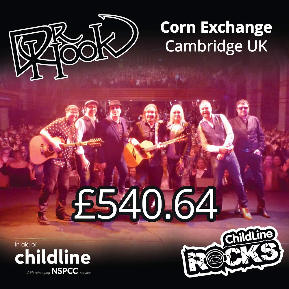 Dr Hook | Fundraising for NSPCC Childline | Cambridge | 2017