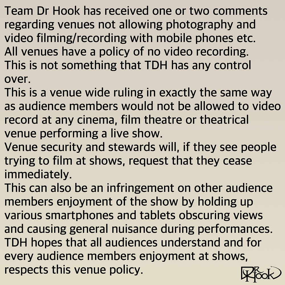 Venue Policy | Photos & Filming
