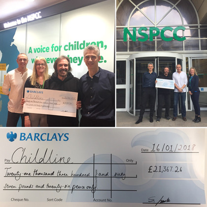 Dr Hook's Dennis Locorriere presenting 2017 fundraising cheque to NSPCC Childline.JPG
