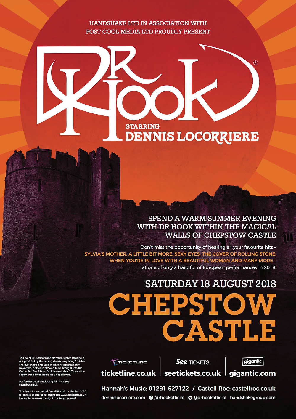 Dr Hook | Castell Roc | Wales | 2018