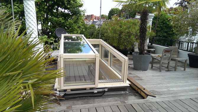 ROOF ACCESS SOLUTIONS | Contemporary, Raised, Slide Open, Semi Retracting, Roof Access Enclosure, Ro