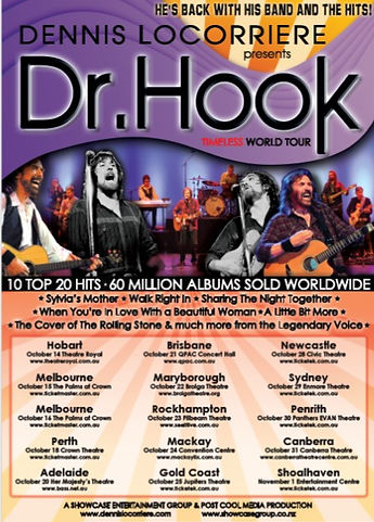 DENNIS LOCORRIERE presents DR HOOK™   The Timeless World Tour Australia 2015