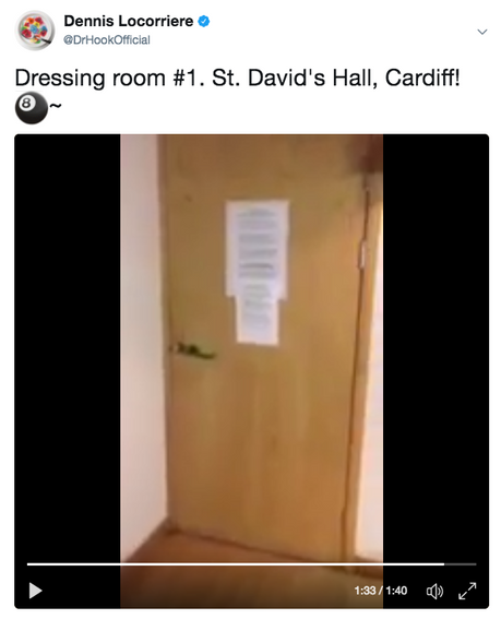 Dr Hook's Dennis Locorriere's Dressing Room Video | Cardiff