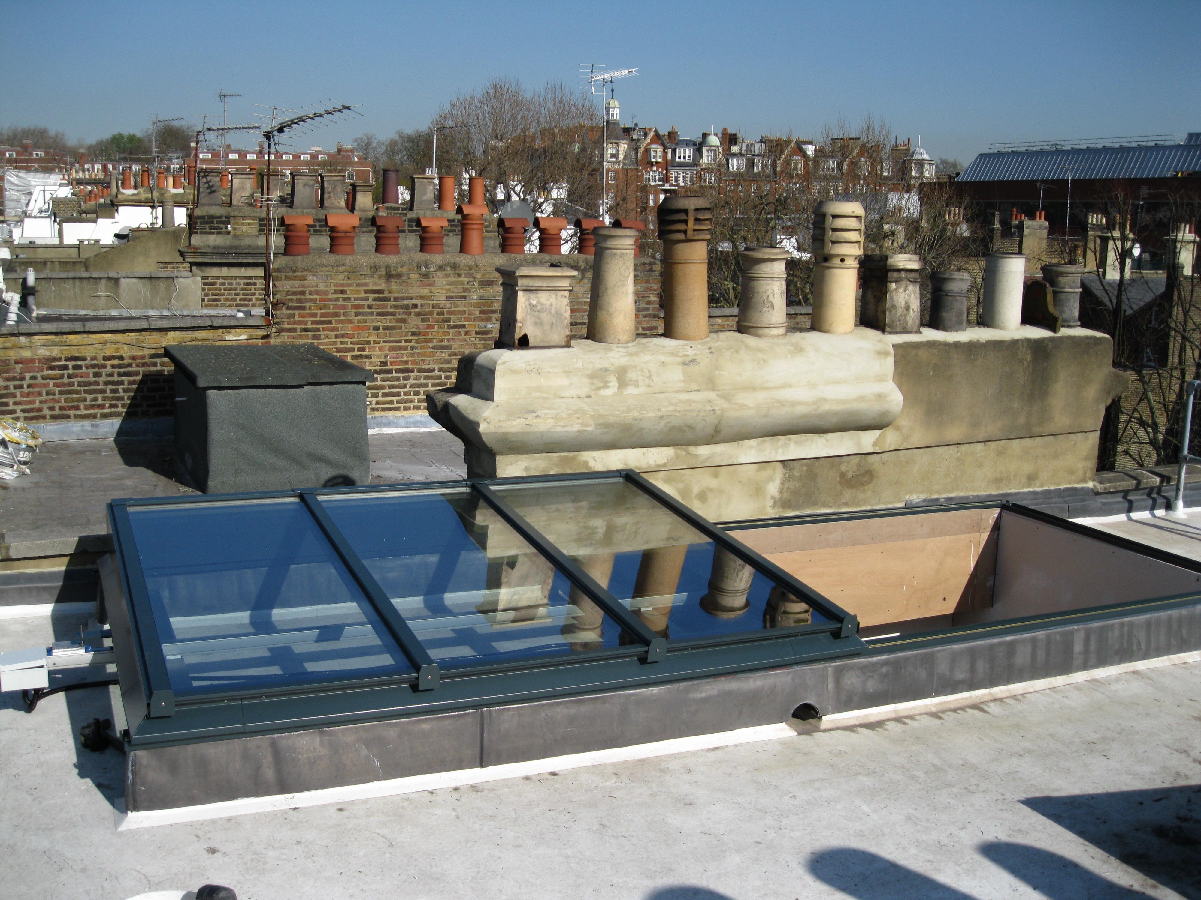 ARGL - Fully Retracting, Slide Open Glazed Roof, Roof  Rooflight, Sky;ight