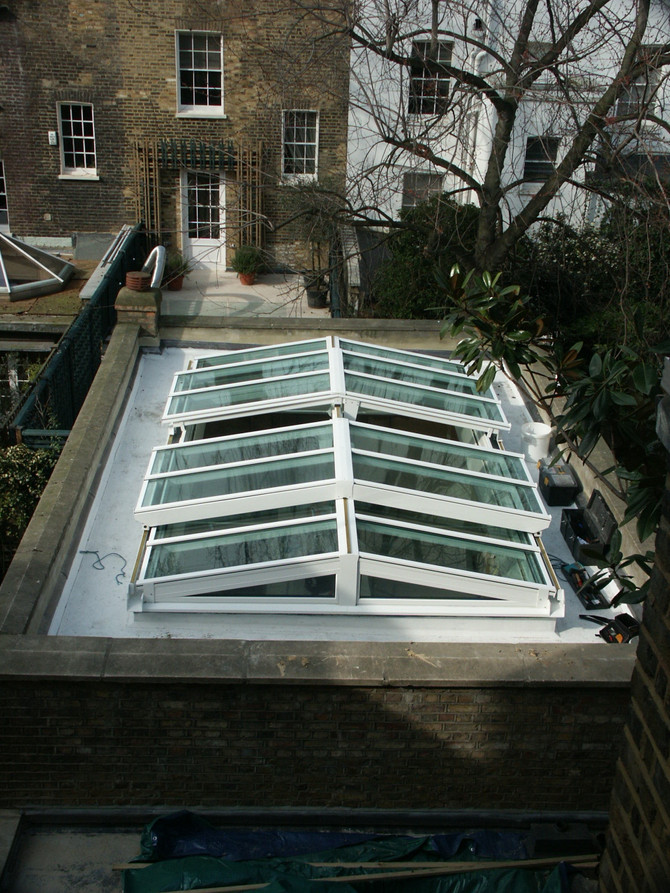 OPENING GLAZED ROOF SOLUTIONS | Bi-Parting Slide Open Glazed Roof, Rooflight