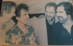Dennis Locorriere with George Harrison