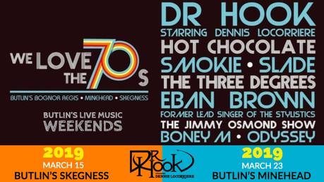 Dr Hook | Butlin's Live Music Weekends| 2019