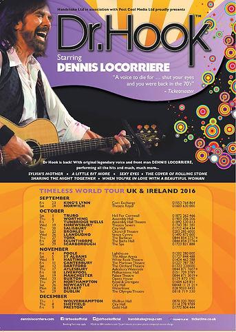 DR HOOK© StarringDennis Locorriere UK & IRELAND Tour 2016