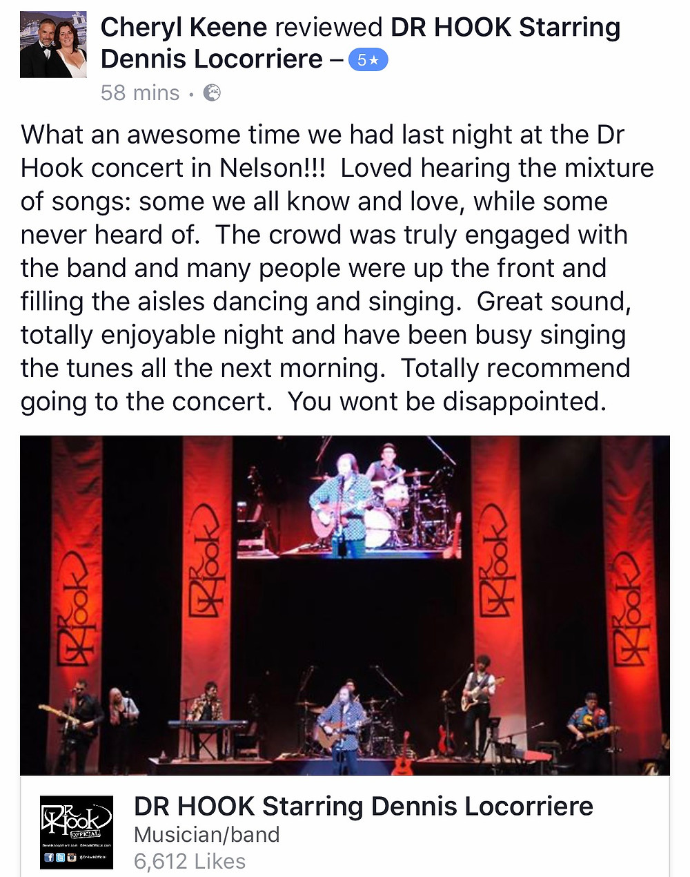 Dr Hook Starring Dennis Locorriere 5 Star Review | Nelson, New Zealand | 18.05.17