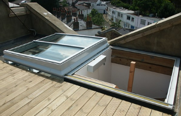Slide Open Rooflight for Roof Access