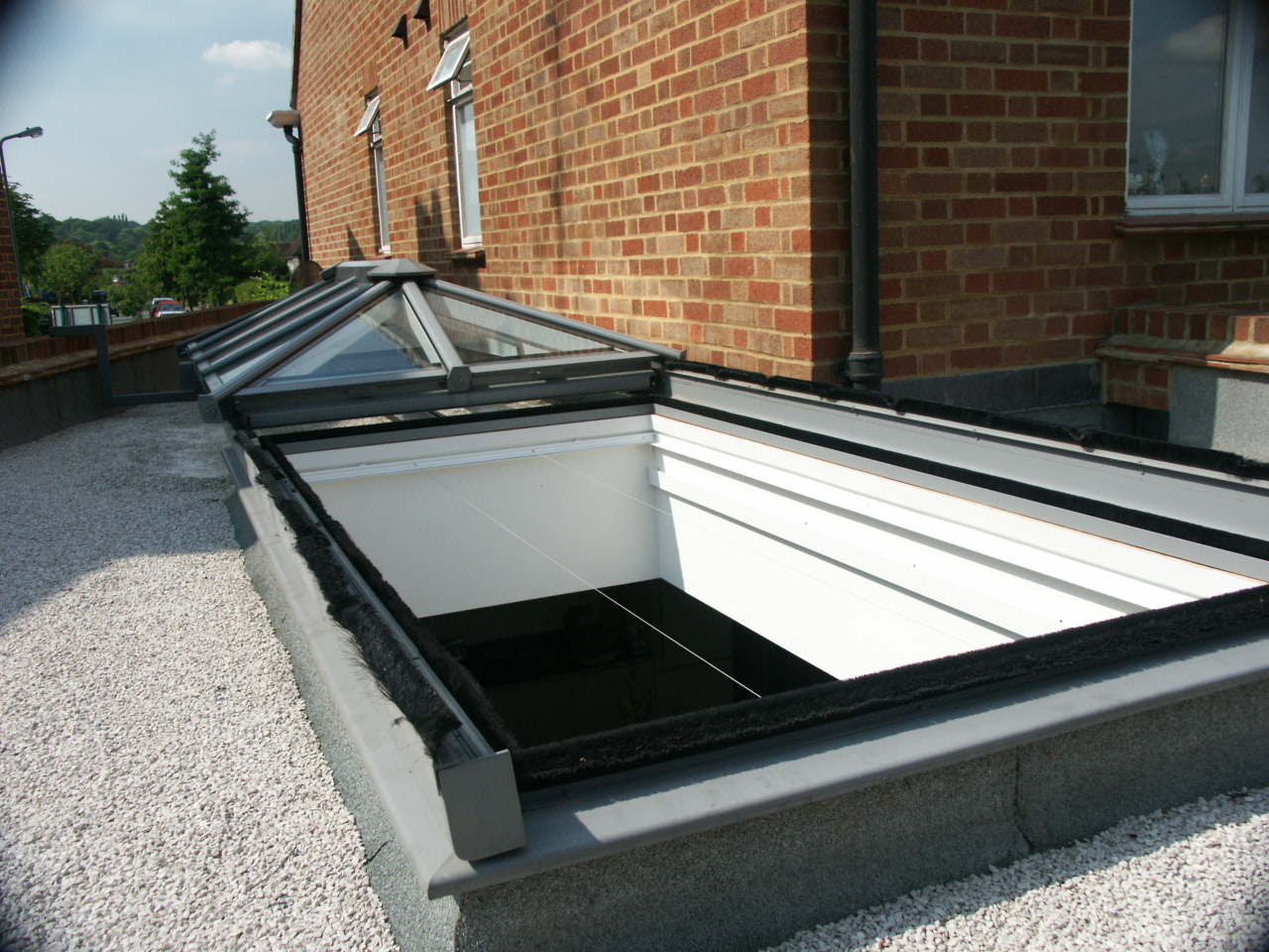 HRSFLD Fully Retracting, Slide Open, Hipped Glazed Roof, Rooflight, Skylight, Roof Lantern