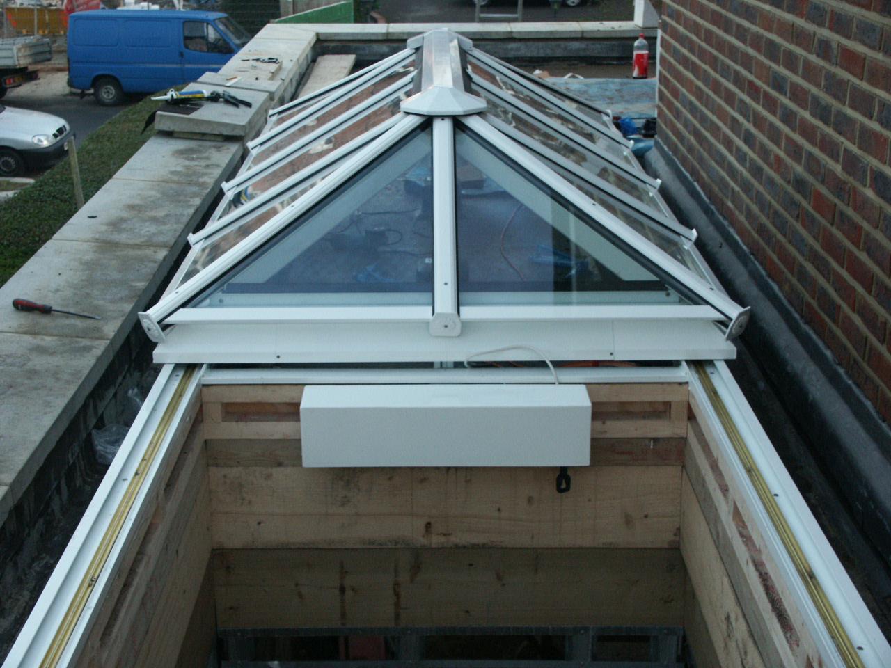 DGB Fully Retracting, Slide Open, Hipped, Glazed Roof, Rooflight, Skylight, Roof Lantern