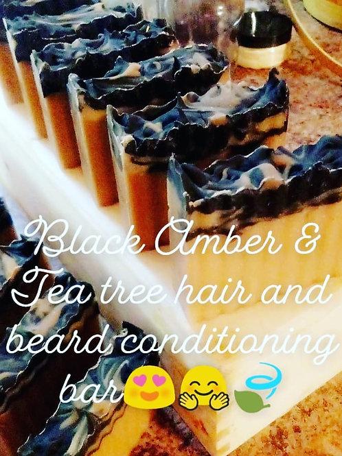 Black Amber & Tea tree hair and beard bar