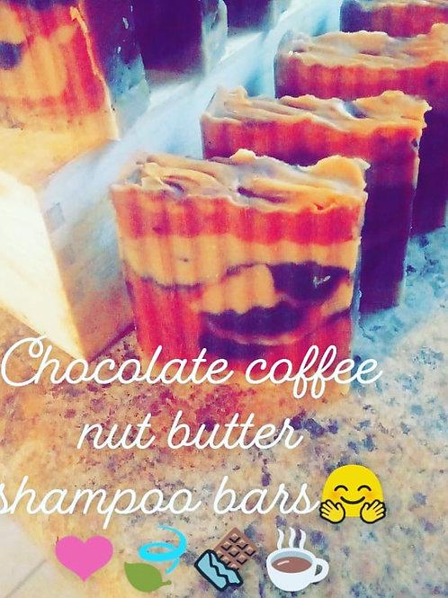 Chocolate coffee nut butter shampoo bar