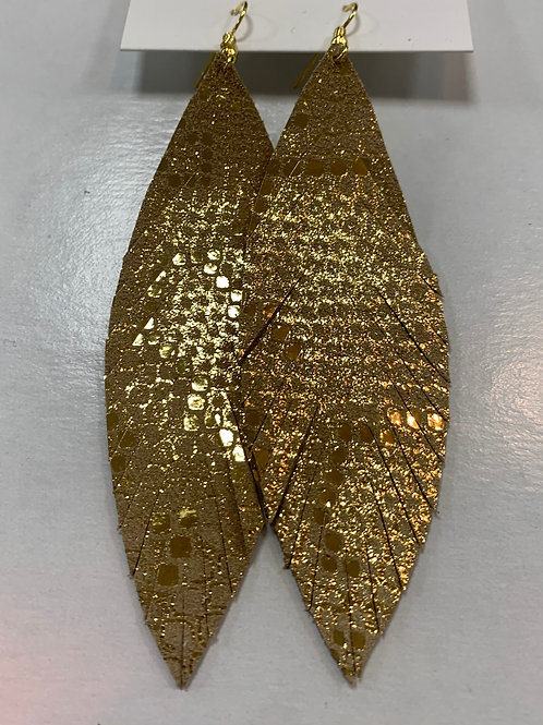 Large Leather Feather
