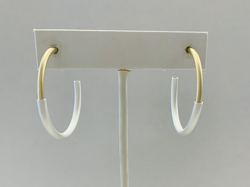 Silver and gold hoop