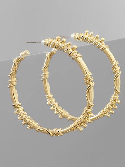 Gold Extra Hoop