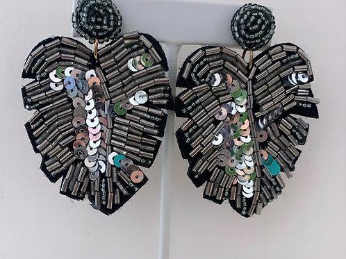 Leaf Earrings Silver
