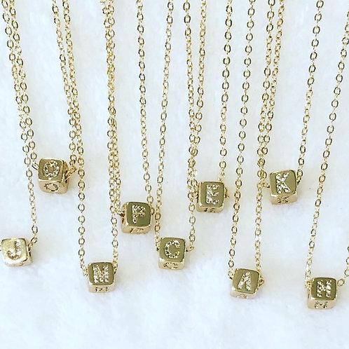 Cube Monogram Necklace Pre Order