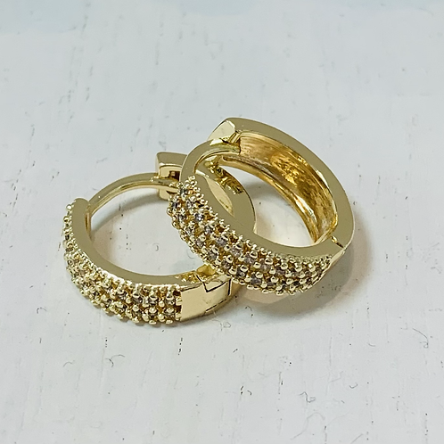 Mini gold hoop