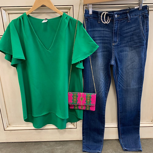Kelly Green Top
