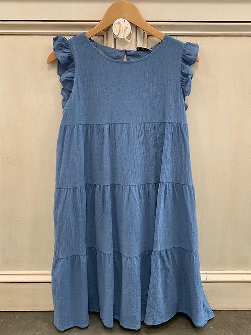 Slate Blue Baby Doll Dress