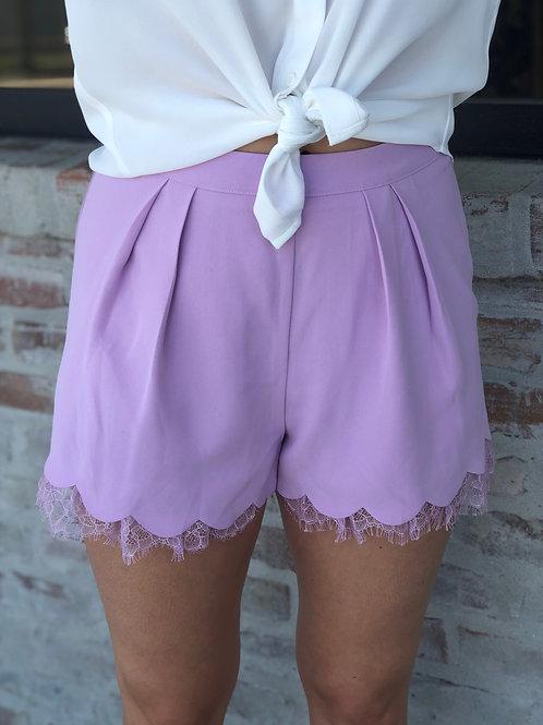 Lavender Lace Shorts