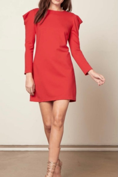 Crimson Red Holiday Dress