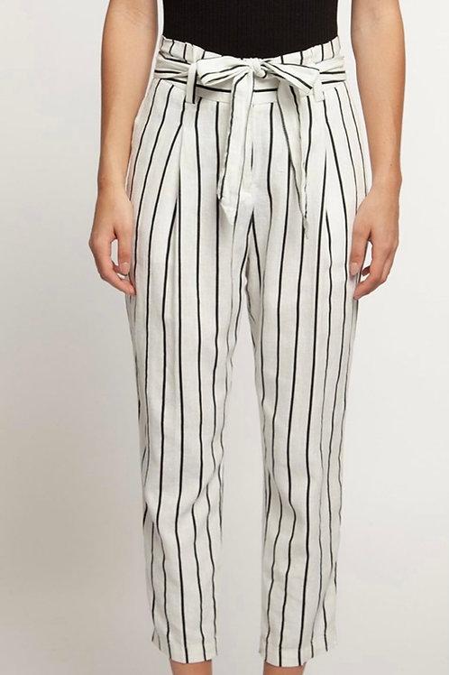 Black & White Linen Pants