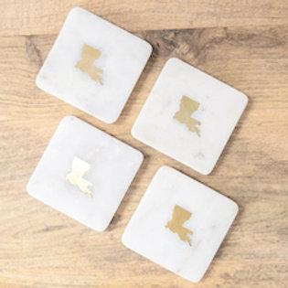 Louisiana Marble Coasters (set of 4)