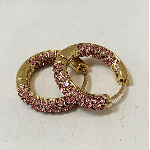 Pink mini hoop