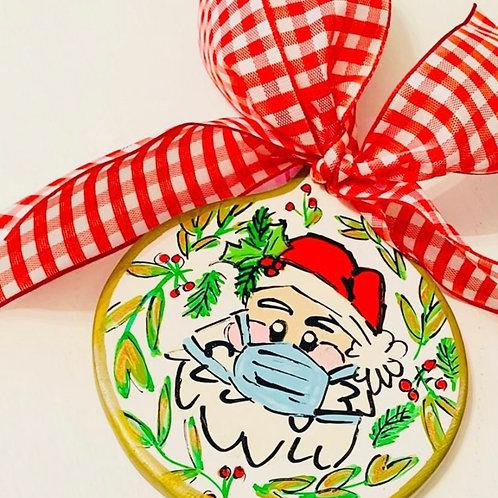 Masked Santa Ornament PRE ORDER