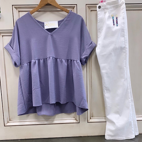 Lavender Baby Doll Top