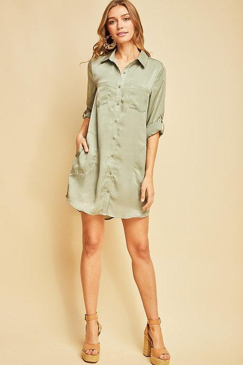 Sassy in Sage Dress