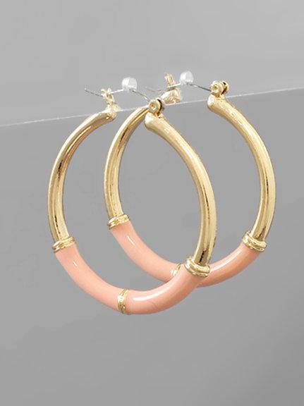 Blush & Gold Hoop
