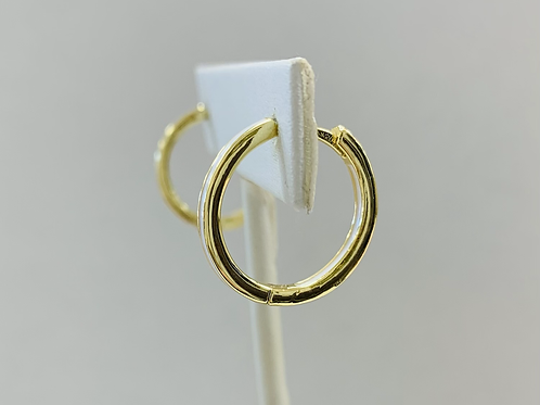 White & gold hoop