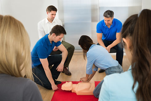 Instructor Demonstrating Cpr Chest Compr