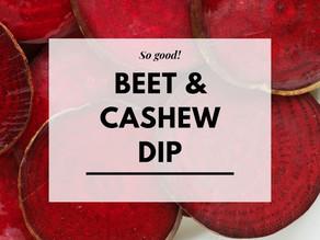 Beet & Cashew Dip