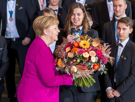 WorldSkills 2019 - Ines Senft zu Gast bei Bundeskanzlerin Angela Merkel