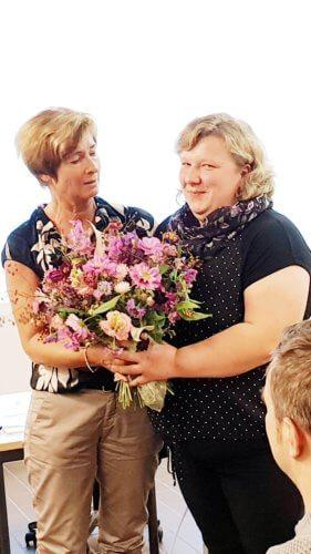 Erni Salzinger Nuener gratuliert Franzi Strobl