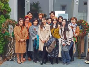 Prüfungsvorbereitung koreanischer Florist*innen im Rosenschloss