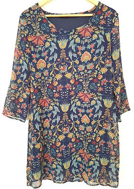 שמלת שיפון פרחונית M I TAMNOON