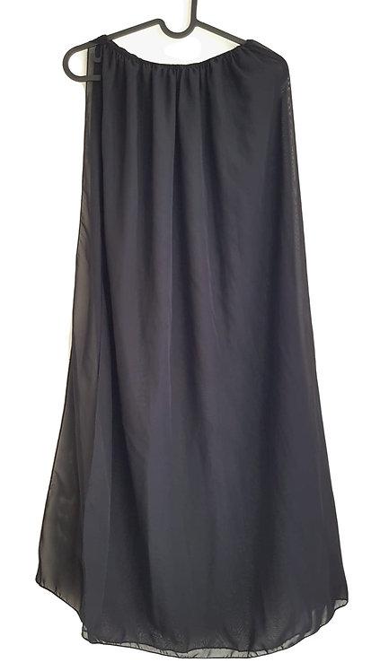חצאית שיפון מקסי עם שסע S\M