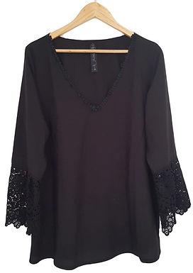 חולצת שיפון עם תחרה XL\XXL I