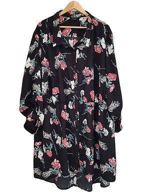שמלה מכופתרת אוברסייז XXXL I YOURS